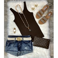 Take Me Seaside Denim Shorts: Dark