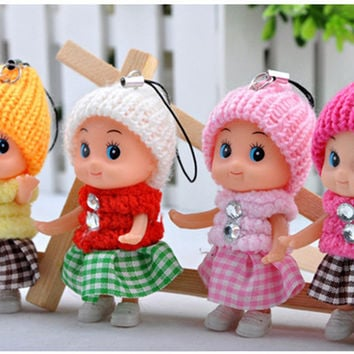 5PCS NEW Kids Toys Soft Interactive Baby Dolls Toy Mini Doll For girls and boys