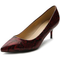 Ollio Women's Shoe Snakeskin D'Orsay Pointed Toe Multi Color Pump