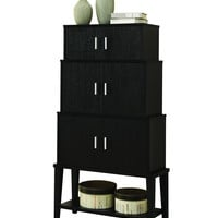 "Cappuccino 55""H Stacking Style Storage Cabinet"