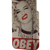 Best 3D Full Wrap Phone Case - Hard (PC) Cover with Marilyn Monroe Obey Style Design