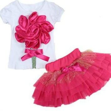 Pretty Springy Flower Tutu Dress