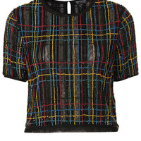 Check Embellished Tee - This Is England - Clothing - Topshop
