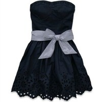 Hollister Dress. Strapless. Navy Blue. Summer Dress. BRAND NEW. Ribbon Belt.