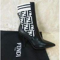 Fendi Socks Type High Heel Shoes-15