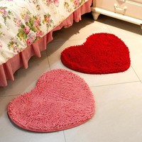 Autumn Fall welcome door mat doormat Heart Shape  Bathroom Floor Rug Lovely In Hallway Mat Small Anti Slip Bathroom Rug Soft Bedroom Bedside Rug Pad AT_76_7