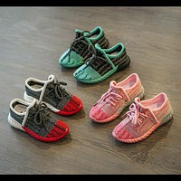Children Shoes Autumn 2016 New Casual Shoes Yeezy Sneaker Baby Boy Girls Kid shoes Bre