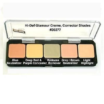 Graftobian HD Glamour Crème Foundations Palette, Corrector Shades