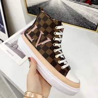 LV LOUIS VUITTON 2019 new women's high quality high-top sneakers