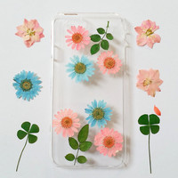 iPhone 5s Case Floral, iPhone 5 Case Clear, Pressed Flower iPhone 6s Case, samsung galaxy s6 case, s5  case, note 5 case, samsun galaxy case