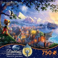 Thomas Kinkade The Disney Dreams Collection:750 Piece Puzzle-Pinocchio Wishes Upon A Star