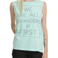 All Strangers At First Girls Muscle Top 2XL
