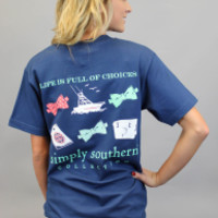 Simply Southern Tee - Navy Life Choices