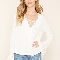 Contemporary Lace-Up Blouse