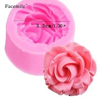 3D Rose Flower Silicone Mold Fondant Gift Decorating Chocolate Cookie Soap Fimo Polymer Clay Resin baking molds 50-103