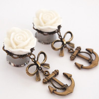 Glamsquared — Anchors Aweigh Steel Dangle Plugs