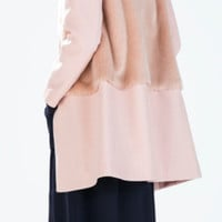 Combination Fur & Wool Coat (Zara)