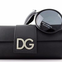 One-nice™ RARE NEW Authentic D&G Dolce & Gabbana Black Crystal Sunglasses DG 6030 B 501/87