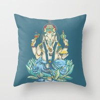 Ganesh  Throw Pillow by Kristy Patterson Design