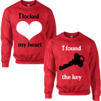 I LOCKED MY HEART I FOUND THE KEY COUPLE SWEATSHIRT