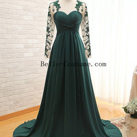 Long Sleeve Prom Dresses, Long Sleeved Prom Dresses, Long Sleeve Prom Dress, Long Sleeve Evening Dresses