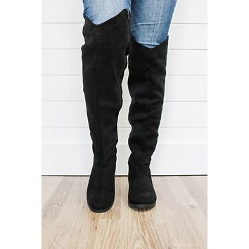 Legacy Over The Knee Boots - Black