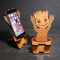 Cute Wood Tree Baby Cell Phone Stand Mobile Dock Stocking Stuffer