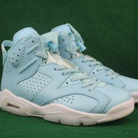 Air Jordan Retro 6 Men Women Basketball Shoes High Quality 6S VI Pantone Still Blue Carolina Blue Ourdoor Classic Sports Training Sneakers With Box