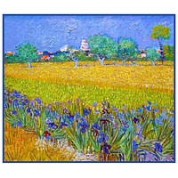 Field with Irises in Arles France by Vincent Van Gogh Counted Cross Stitch Pattern