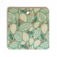Heather Dutton Winter Woodlands Sky Cutting Board Square