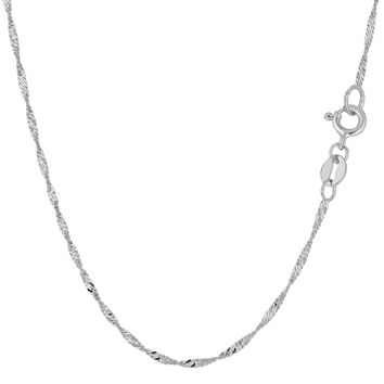 14K White Gold Singapore Chain - Width 1.5mm