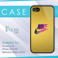 Nike gold case, wood iphone case, iphone 4 case, iphone 5 case, iphone 5s case, iphone 5c case, samsung galaxy case