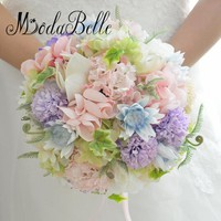 modabelle Pink Purple Wedding Bouquet For Brides Bouquet De Mariee Bridal Bouquet Ramos De Novia Wedding Accessories