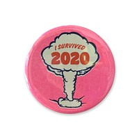 """I Survived 2020 Pink Button - 1.75"""""""