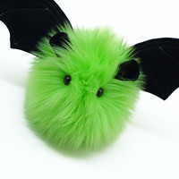 Beetle the Lime Green Bat Stuffed Animal Plush Toy