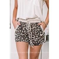 Selection Of Comfort Cheetah Drawstring Shorts