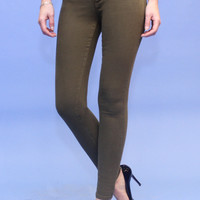 FLYING MONKEY Olive Colored Skinny Jeans