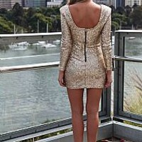 FLOURISH IN DARKNESS DRESS , DRESSES, TOPS, BOTTOMS, JACKETS & JUMPERS, ACCESSORIES, $10 SPRING SALE, PRE ORDER, NEW ARRIVALS, PLAYSUIT, GIFT VOUCHER, $30 AND UNDER SALE,,Sequin,Gold Australia, Queensland, Brisbane