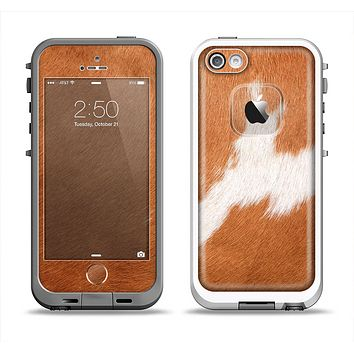 The Real Brown Cow Coat Texture Apple iPhone 5-5s LifeProof Fre Case Skin Set