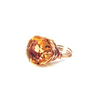 Rose Gold Merle Zsa Zsa Bling Ring