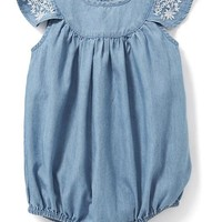 Chambray Bubble One-Piece for Baby | Old Navy