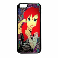 Ariel Little Mermaid Tattoo With Flower Cover iPhone 6 Plus Case
