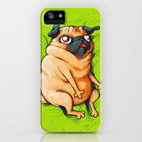 Pug Roll iPhone & iPod Case by Dendril
