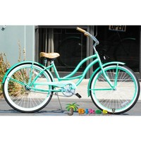 "JBikes Chloe Women's 26"" Beach Cruiser Bike Mint Green"