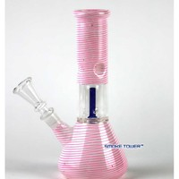 "8"" Pink Glass Mini Bong - Pink Smoking Collection - 26.99 US and Canada"