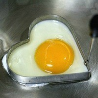 Home Cook Fried Egg Pancake Stainless Steel Heart Shaper Mould Mold Kitchen Tool