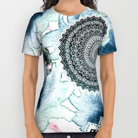 BLOOM MANDALAS IN BLUE All Over Print Shirt by Nika
