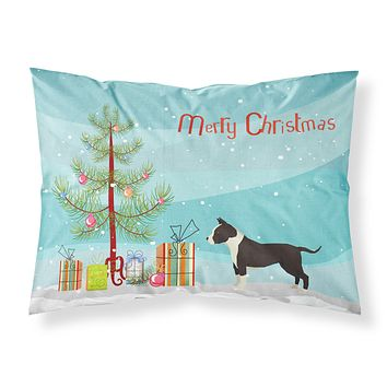 American Staffordshire Terrier Christmas Tree Fabric Standard Pillowcase CK3515PILLOWCASE