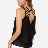 LULUS Exclusive Play the Part Black Top