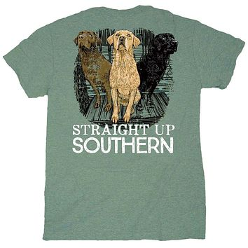 Three Dogs Tee by Straight Up Southern